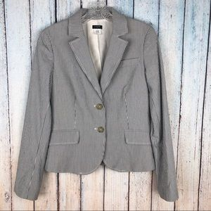 J. Crew Blue and White Pin Striped Blazer Size 6